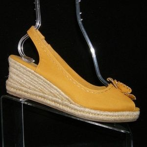 Naturalizer Berlynn yellow canvas wedges 9N